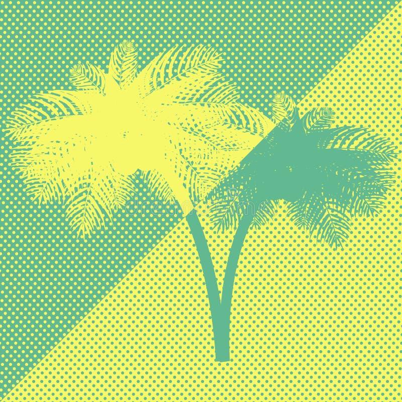 Palma di verde giallo fotografie stock