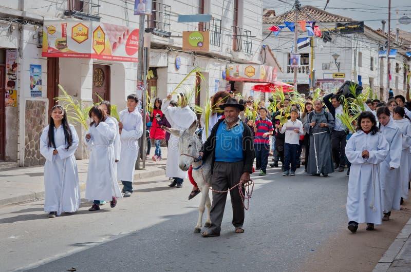 Palma domingo no sucre, Bolívia fotos de stock royalty free