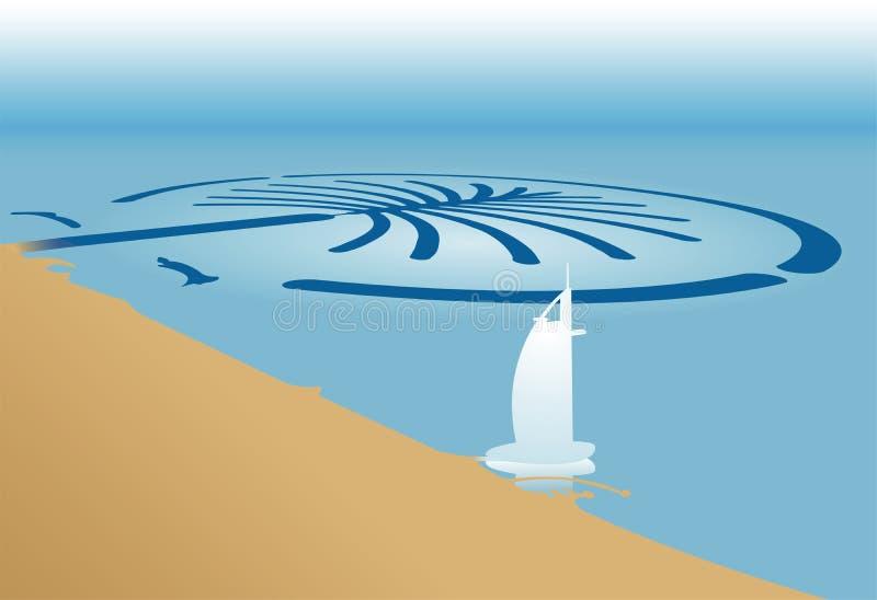 A palma em Dubai ilustração royalty free
