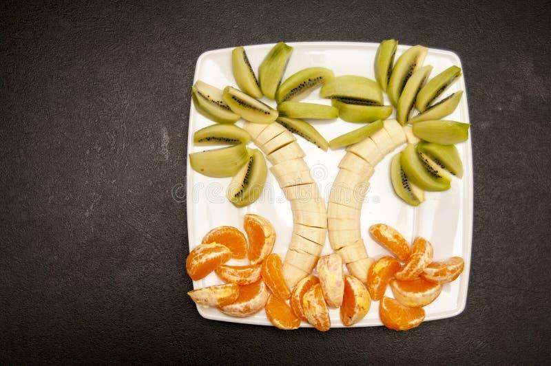 Palma hecha de frutas fotos de archivo libres de regalías