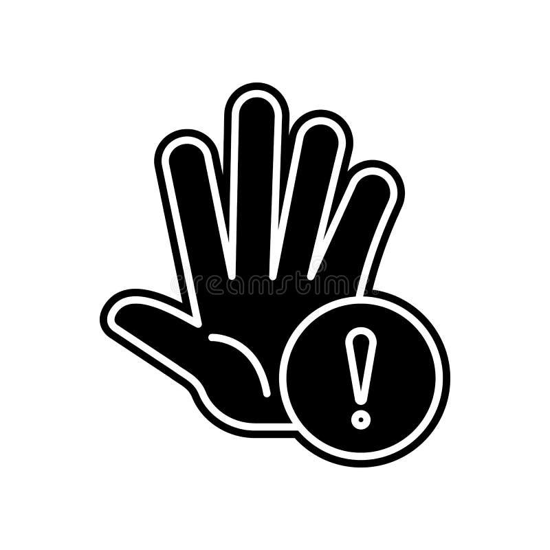 Palma, kary, ręki ikona Element Ogólnych dane projekt dla mobilnego pojęcia i sieci apps ikony Glif, płaska ikona dla strony inte ilustracja wektor
