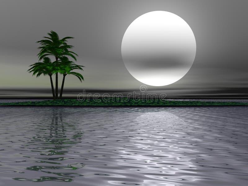 palma krajobrazu ilustracja wektor