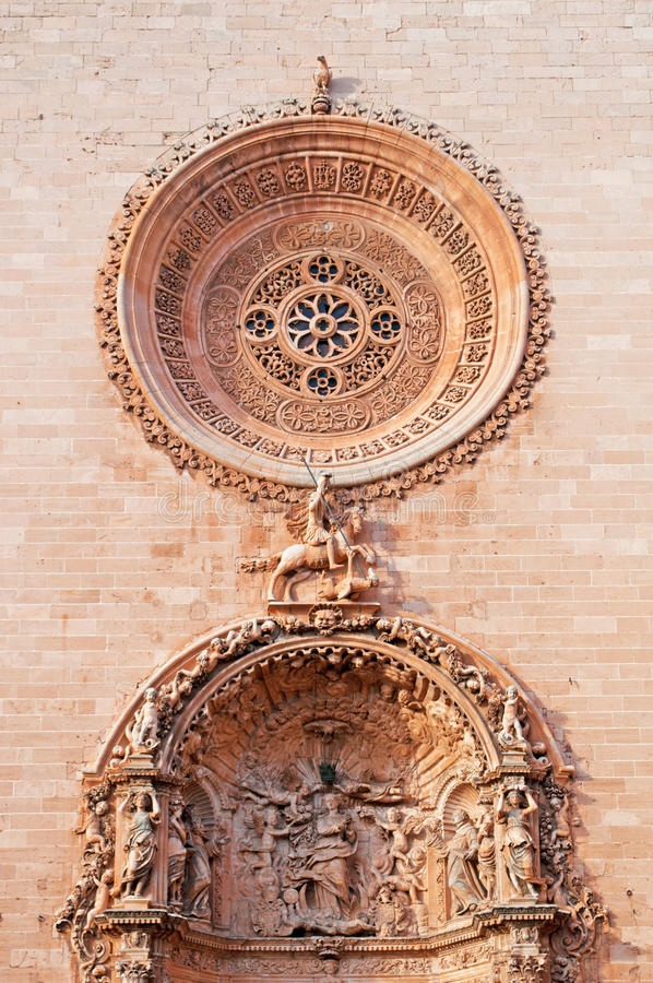 Free Palma, Mallorca, Majorca, Balearic Islands, Spain, Church, Details, Rose Window, Decoration, Basilica Of St. Francis Stock Photos - 67581823