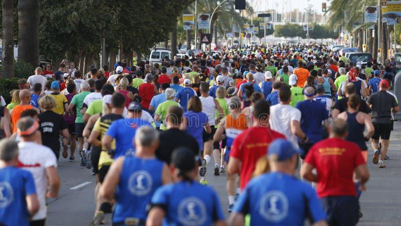 Palma Marathon 2018 wijd stock afbeeldingen
