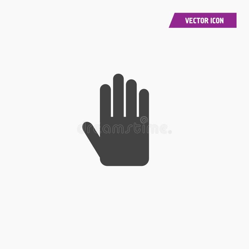 Palma, ręki ikony wektor, wypełniający mieszkanie znak ilustracja wektor