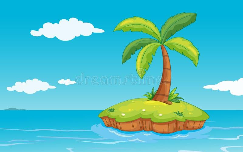 Palma sull'isola royalty illustrazione gratis