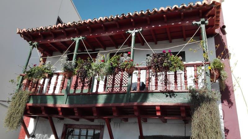 Palma van balkonla royalty-vrije stock afbeeldingen
