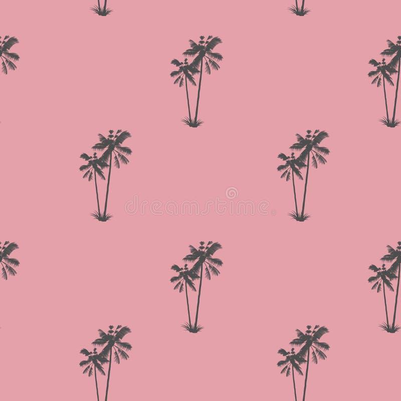 Palma wzór Egzotyczny Tropikalny drzewo tropikalny zachwyt ilustracja wektor