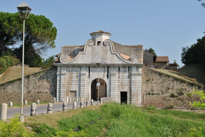 Palmanova, italy. Walled city, Italian monuments, traces of history royalty free stock images