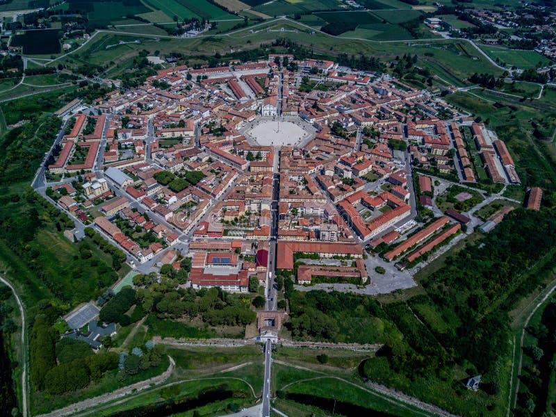 Palmanova, vue aérienne photographie stock