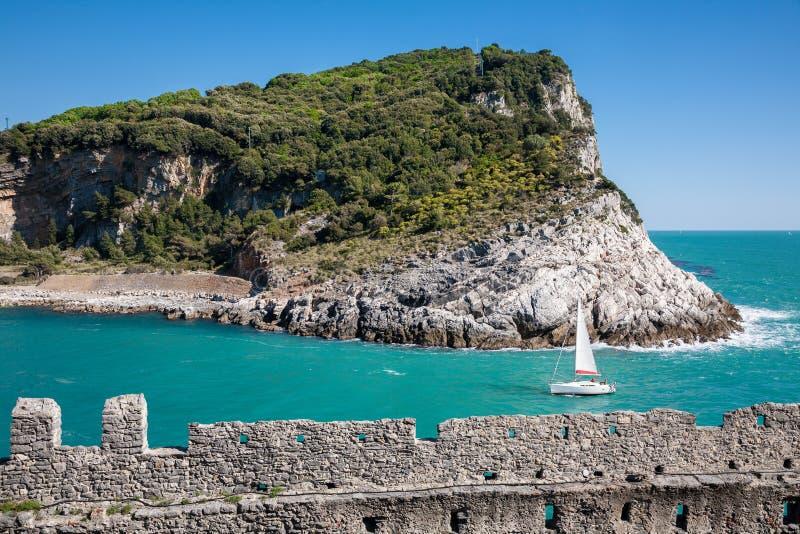Palmaria wyspa, Portovenere, Włochy zdjęcia stock