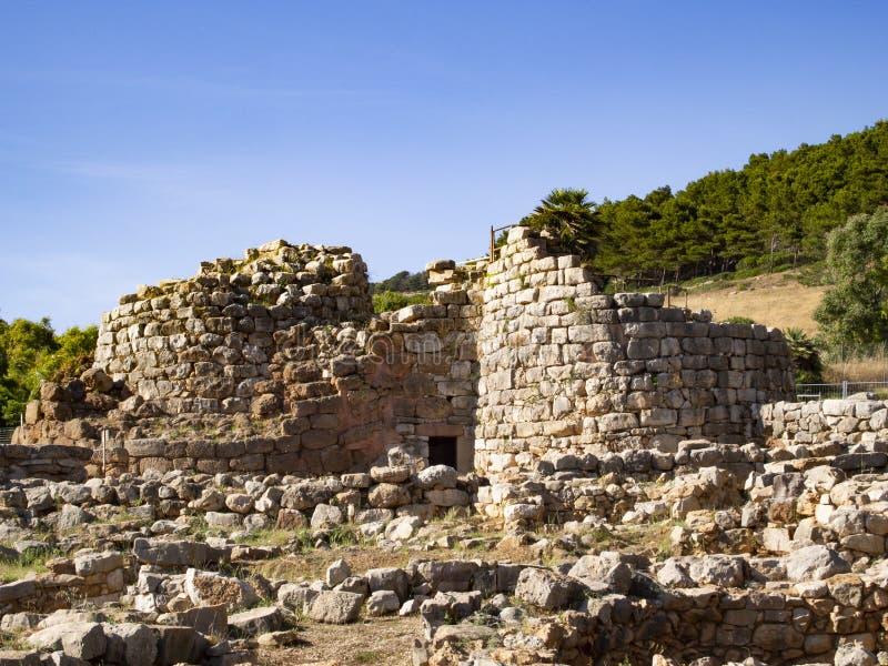 Palmavera nuraghe, Alghero Sardinia obraz stock