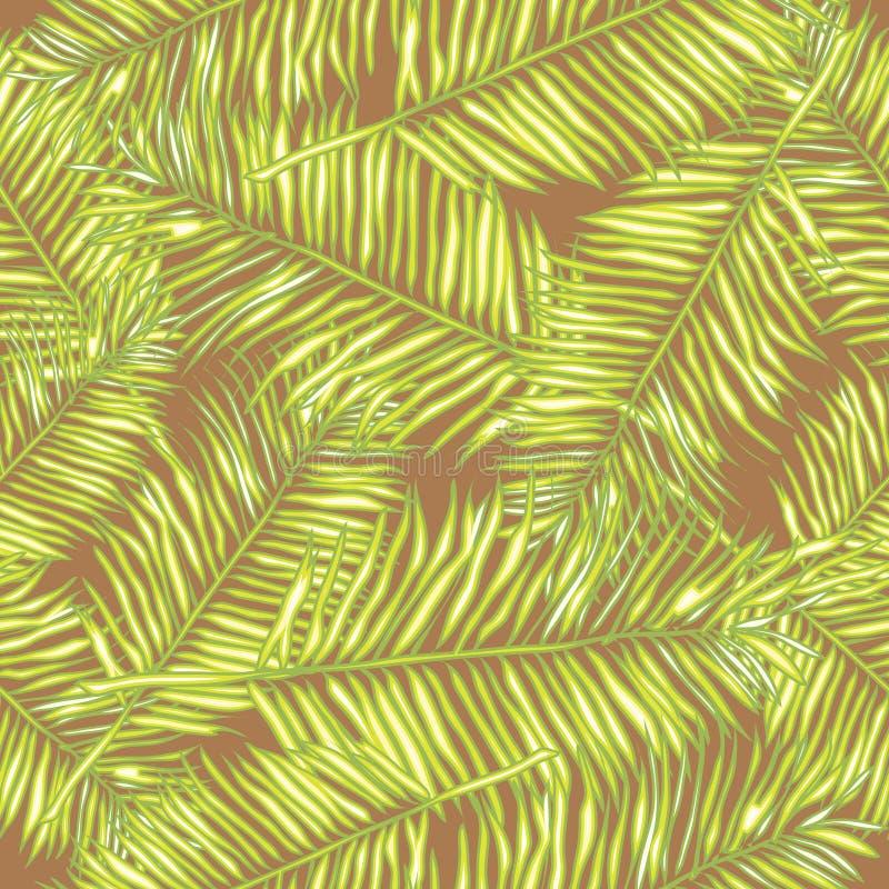 Palmblätter Nahtloser vektorhintergrund floral lizenzfreie abbildung