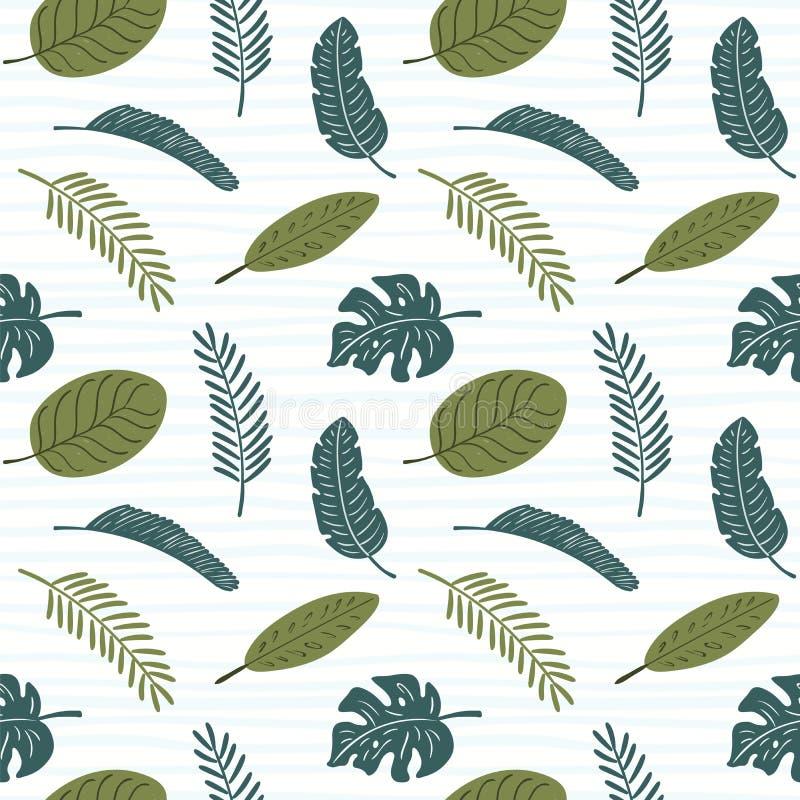 Palmbladen naadloos patroon royalty-vrije illustratie