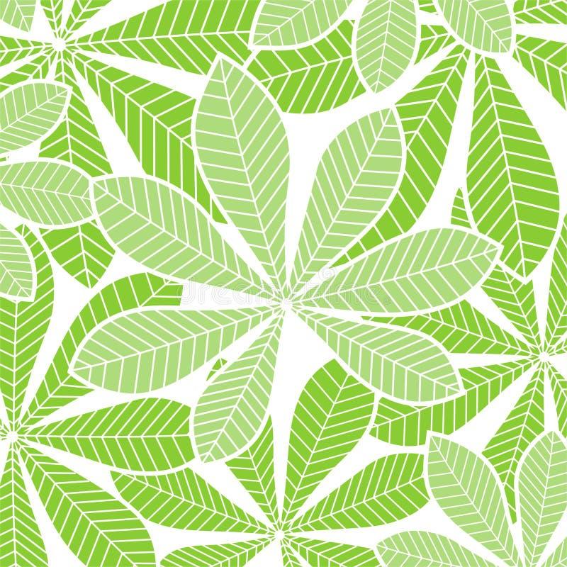Palmbladen op wit stock illustratie