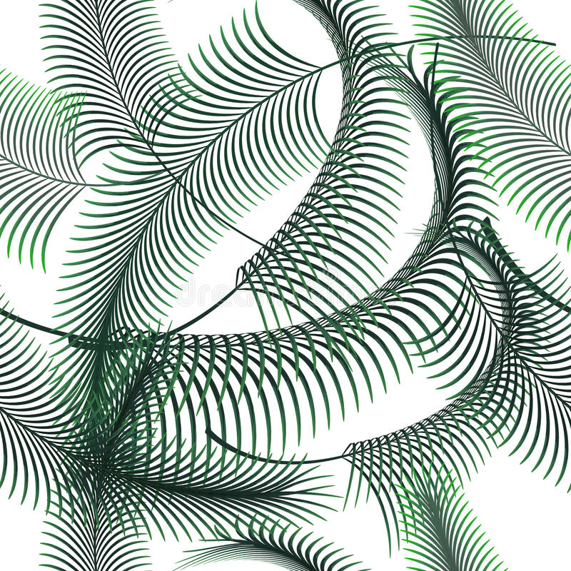 Palmbladen vector naadloos patroon royalty-vrije illustratie