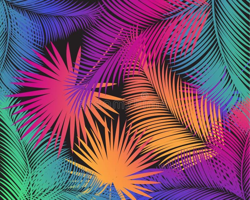 Palmbladmodell vektor illustrationer