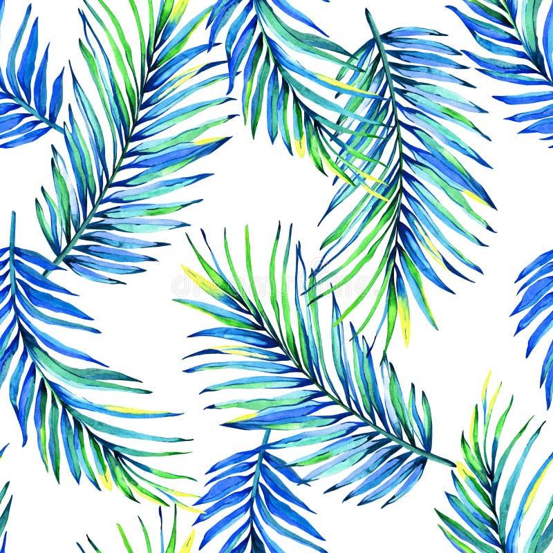 Palmblattparadieshintergrund lizenzfreie abbildung