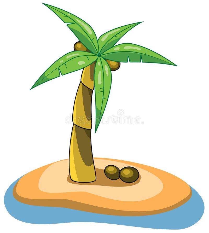 Palme auf einer Insel vektor abbildung