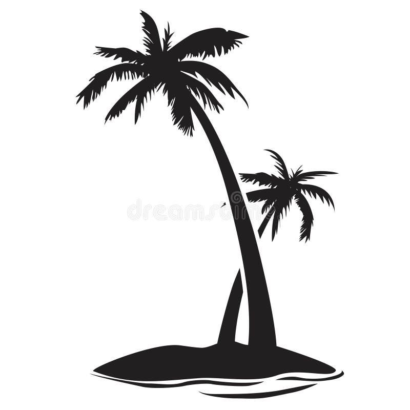 Palme-Inselschattenbild vektor abbildung