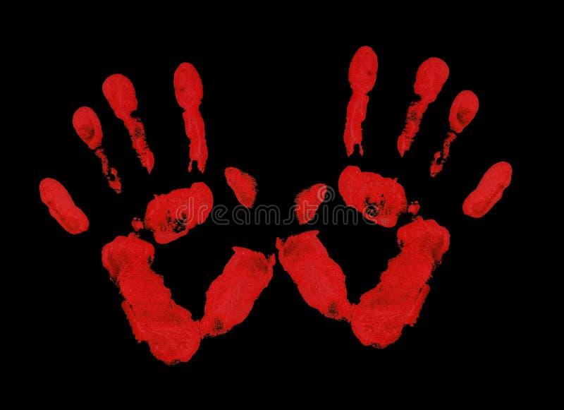 Palme rosse fotografie stock libere da diritti
