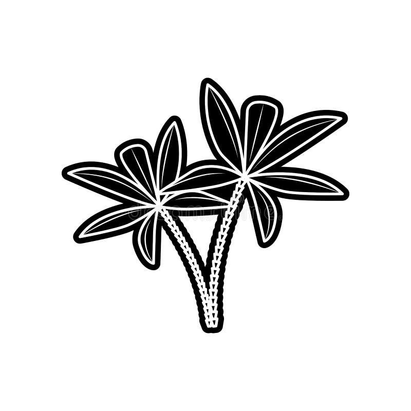 Palmeikone Element von arabischem f?r bewegliches Konzept und Netz Appsikone Glyph, flache Ikone f?r Websiteentwurf und Entwicklu stock abbildung