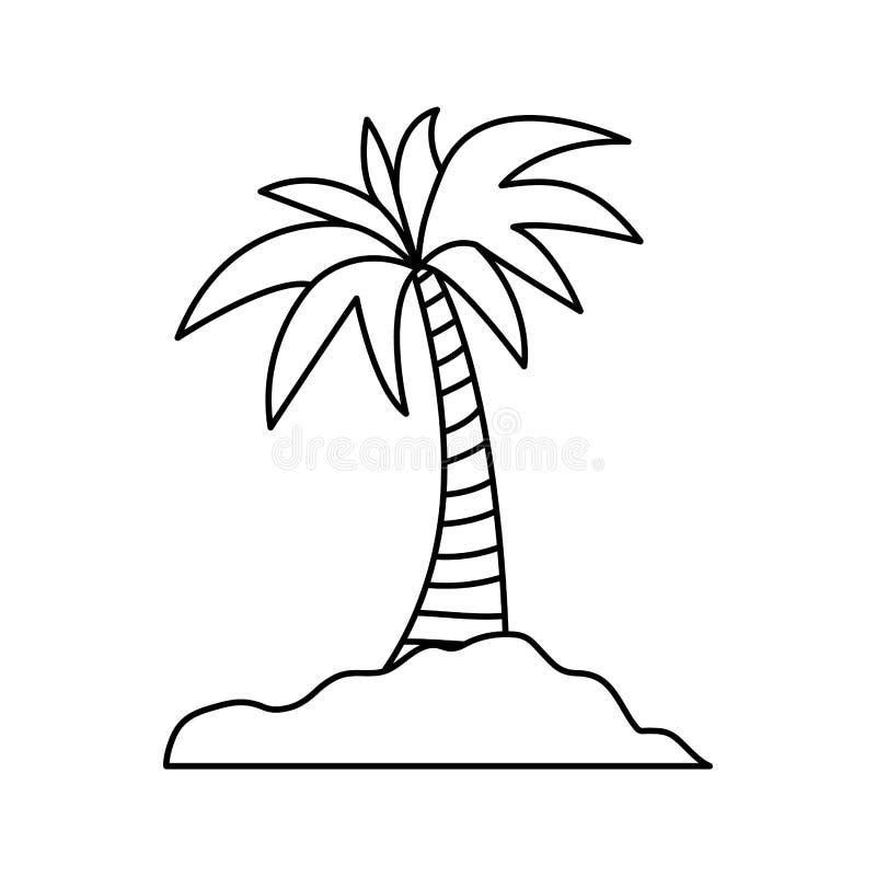 Palmeira da ilha ilustração do vetor