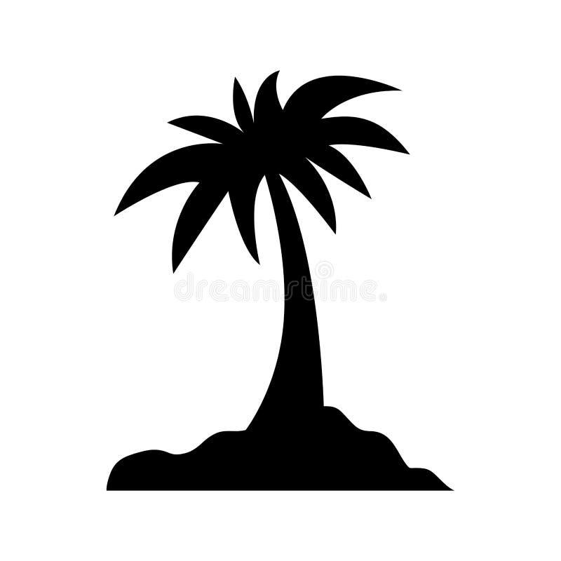 Palmeira da ilha ilustração stock