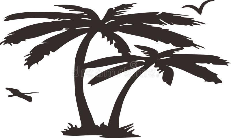 Palmeira detalhada ilustração do vetor