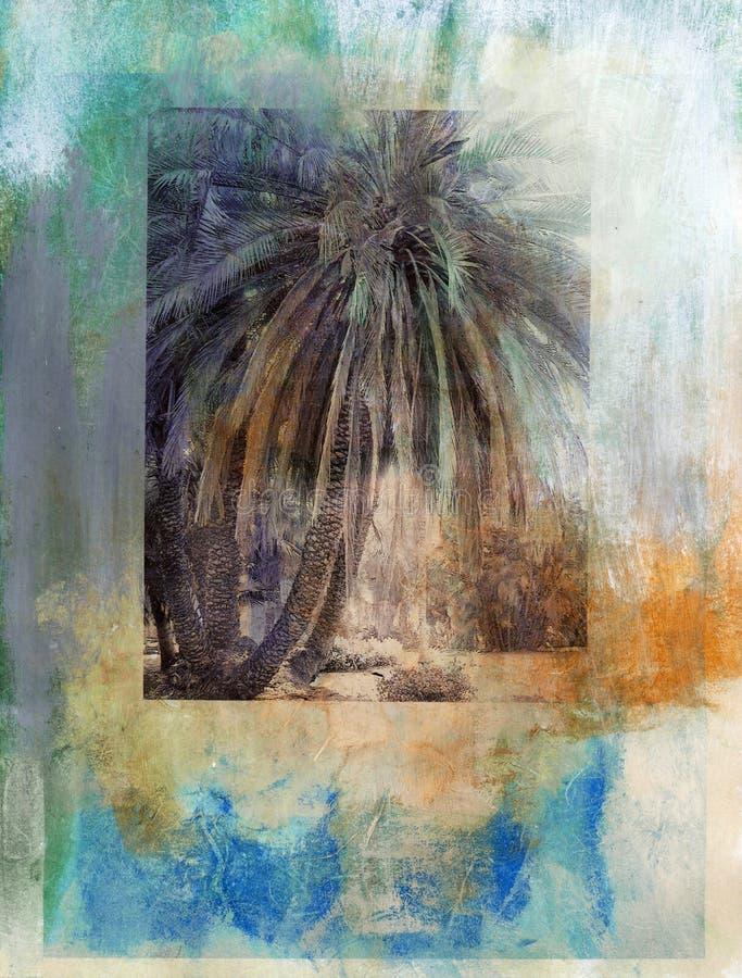 Palmeira dos oásis ilustração do vetor