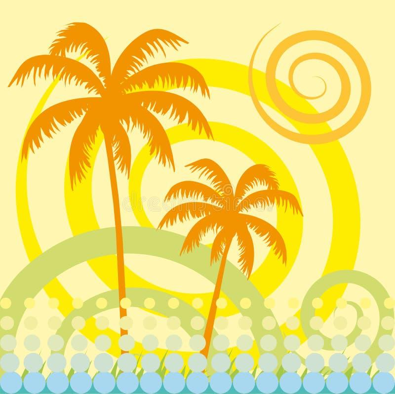 Palmeira tropical ilustração royalty free