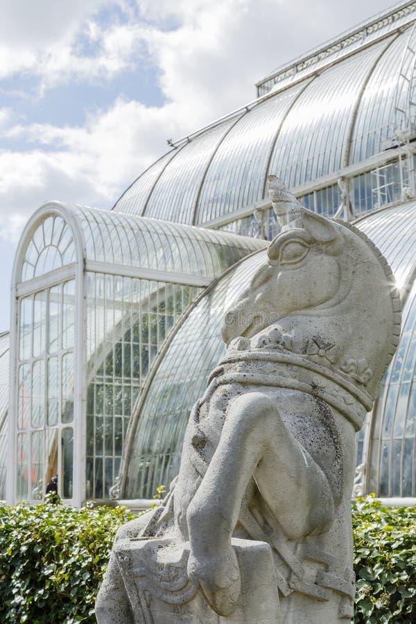 Palmen-Haus Kew-Gärten stockbild
