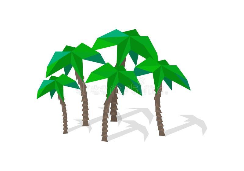 Palmen mit Schatten lizenzfreie abbildung