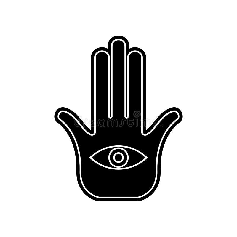 Palmen- und Handikone Element von arabischem f?r bewegliches Konzept und Netz Appsikone Glyph, flache Ikone f?r Websiteentwurf un lizenzfreie abbildung