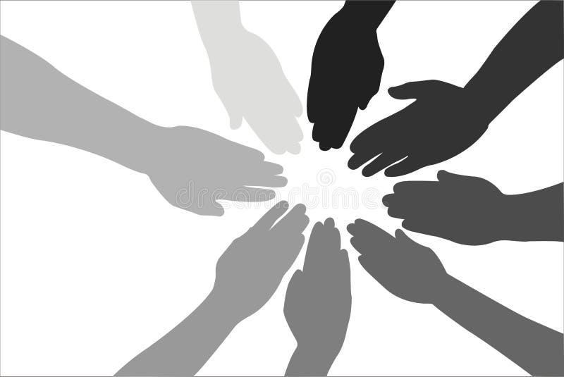 Download Palmen van vrienden vector illustratie. Afbeelding bestaande uit groep - 4093577