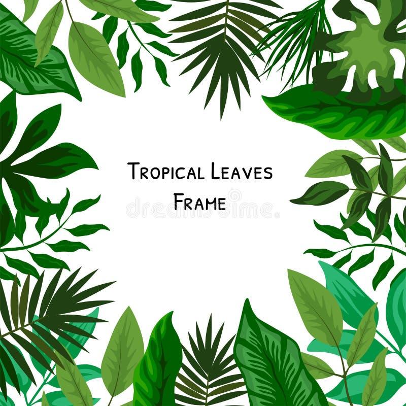Palmenhochzeit Ereignis-Einladungskartenentwurf mit tropischen Blumen, laden danken Ihnen, rsvp modernem Karte Entwurf ein Tropis lizenzfreie abbildung