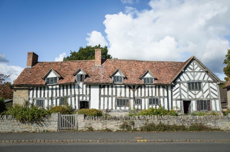 Palmer's farmhouse, next door to Mary Arden's home stock photography
