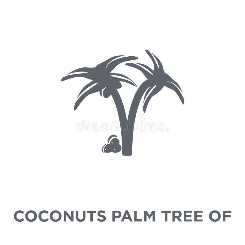 Palmera de los cocos del icono del Brasil del collectio brasileño de los iconos libre illustration