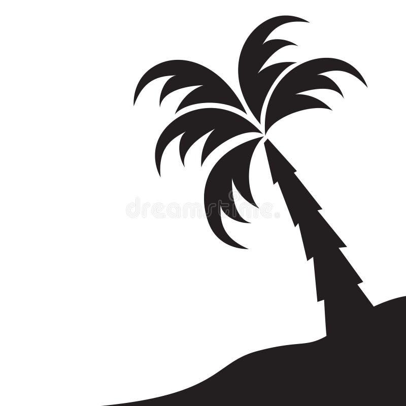 Palmera e isla ilustración del vector