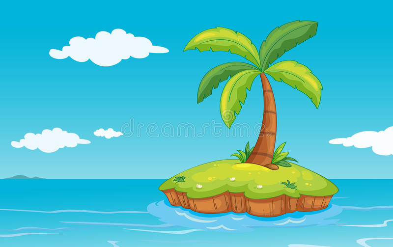 Palmera en la isla libre illustration