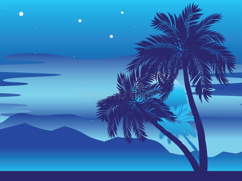 Palmera en la noche libre illustration