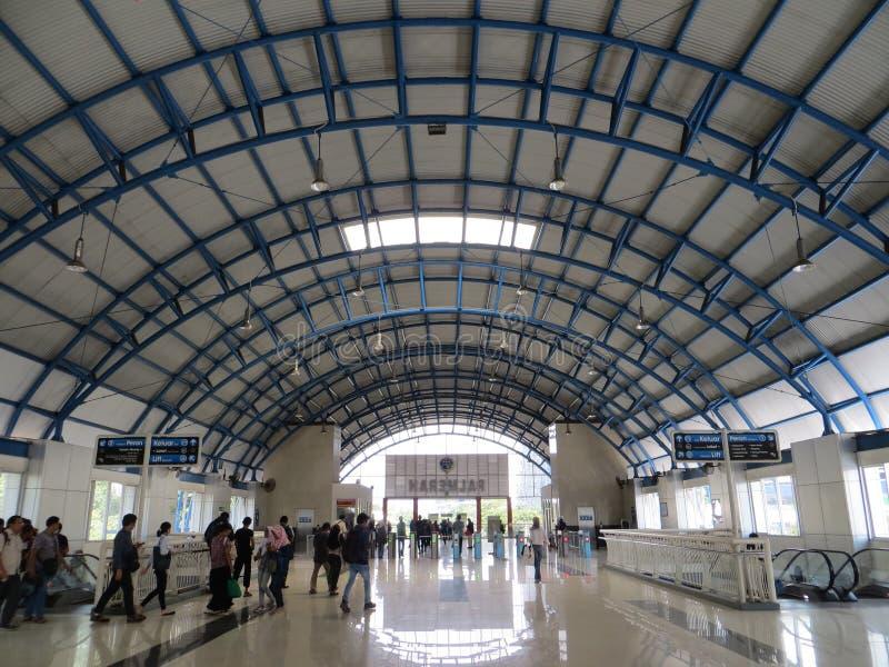 Palmerah station, Jakarta royaltyfri foto
