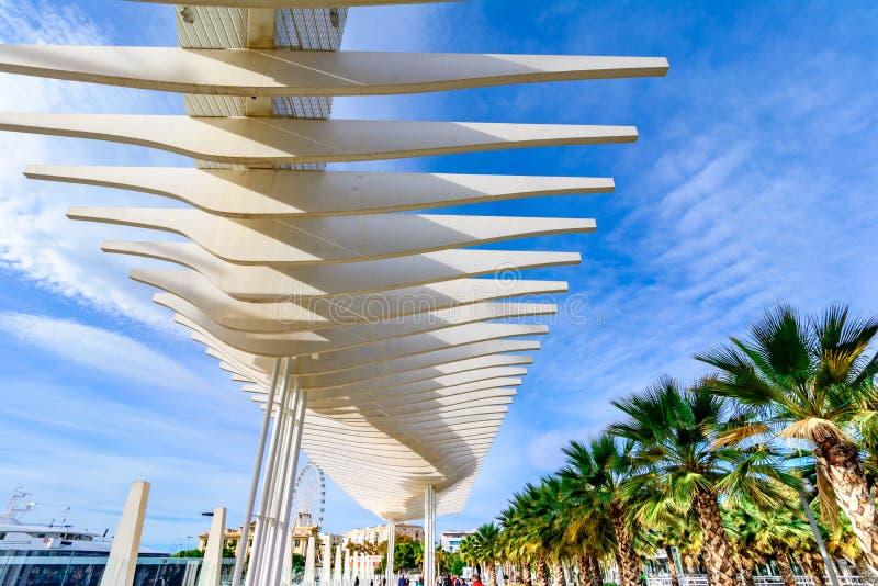 Palmeral de las Sorpresas, Malaga, Andalusia, Spagna immagini stock
