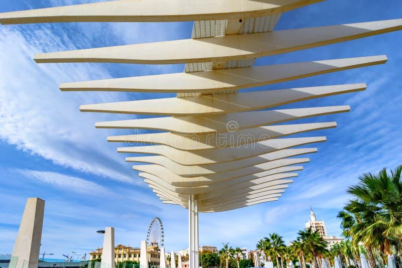 Palmeral de las Sorpresas, Malaga, Andalusia, Spagna fotografia stock libera da diritti