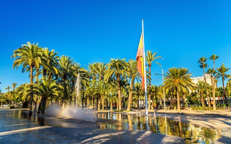 Palmeral van Elche, Spanje De erfenisplaats van Unesco stock foto