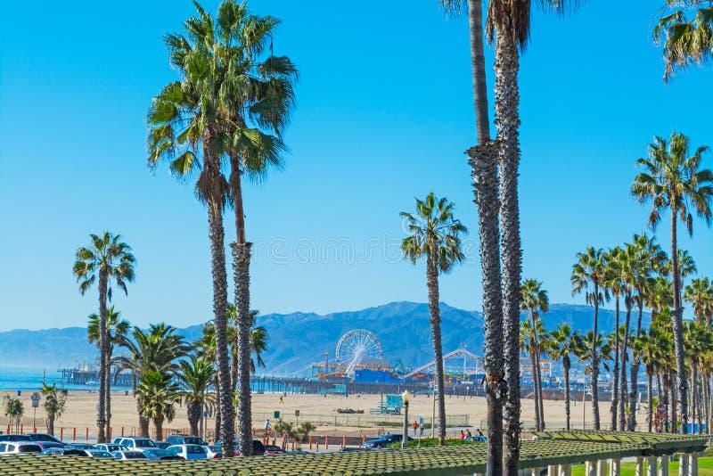 Palmeras en Santa Monica fotografía de archivo