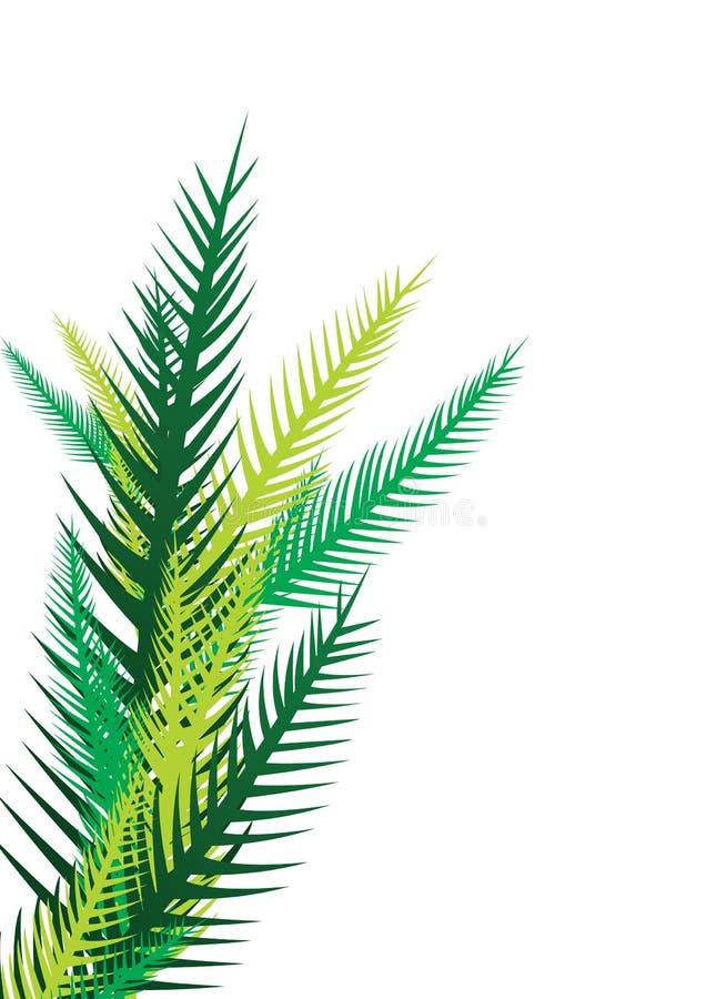 Palmettes - vecteur illustration libre de droits