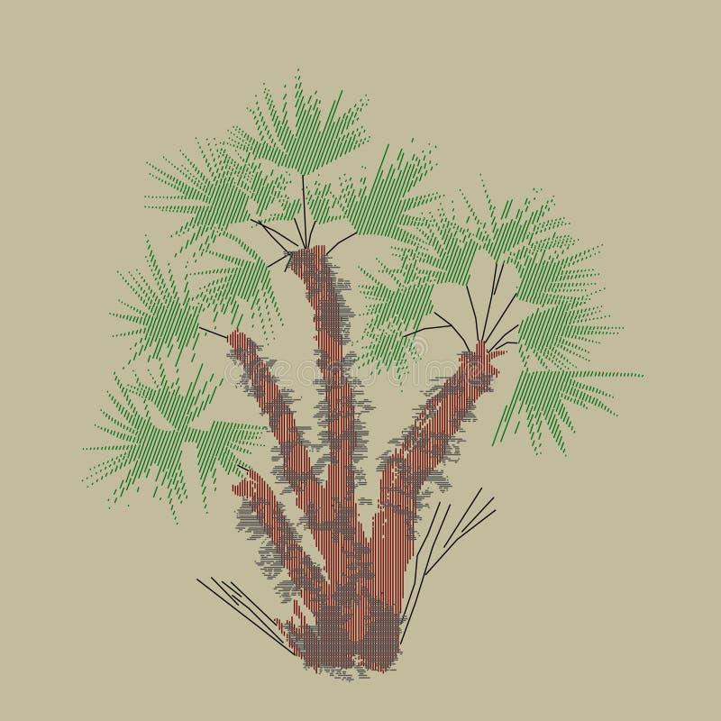 Palmetto, покрашенное изображение стоковое изображение