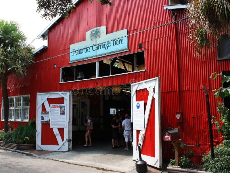 Palmetto Carriage Barn in Charleston. South Carolina royalty free stock photo