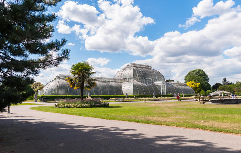Palmhuis in Kew-Tuinen stock foto's